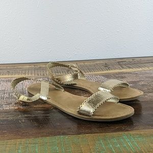 Bamboo Gold Sandals Size 8.5